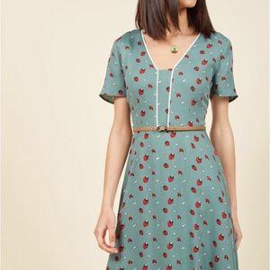 Strawberry ModCloth dress. NWT